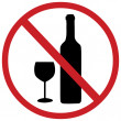 Vector sign: no alcohol — Stock Vector