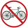 Vector sign: no bicycle — Stock Vector