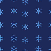 Vector seamless pattern of snowflakes — Stock Vector