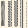 Vector set of 5 tire tracks — Stok Vektör