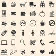 Vector set of 36 shopping icons  — Stock Vector