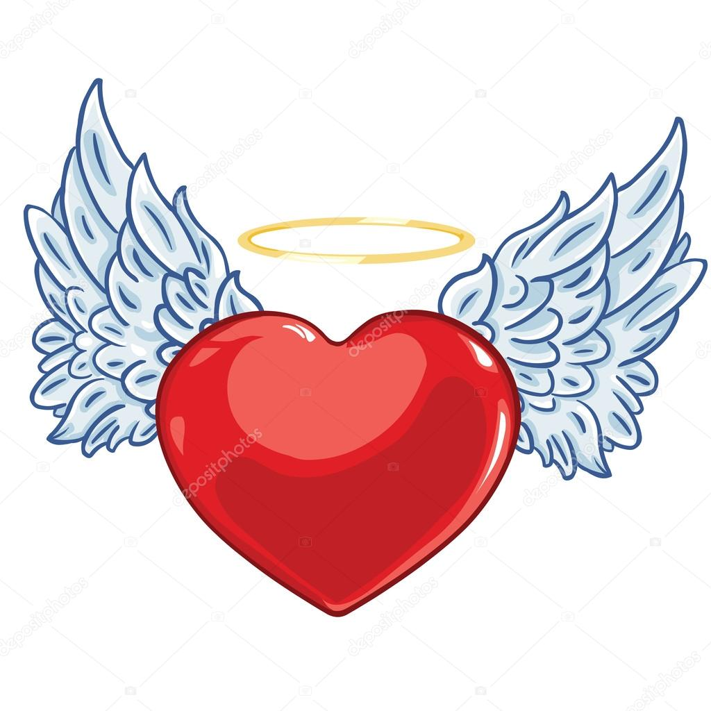 Cool Hearts With Angel Wings Heart with angel wings and