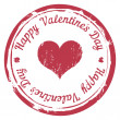 Vector Red Stamp For Valentine's Day — Stock Vector