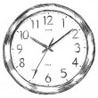 Vector sketch illustration - wall clock — Stock Vector
