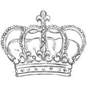 Vector sketch illustration - royal crown — Stock Vector