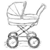 Vector Sketch Illustration - buggy — Stock Vector