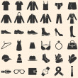 Vector Set of Clothes Icons — Stock Vector #42055457