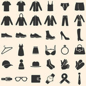 Vector Set of Clothes Icons — ストックベクタ