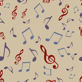 Vector Seamless Pattern of Music Notes — Stock Vector