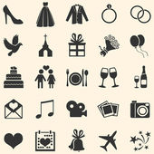Vector Set of 25  Wedding Icons — Stock Vector