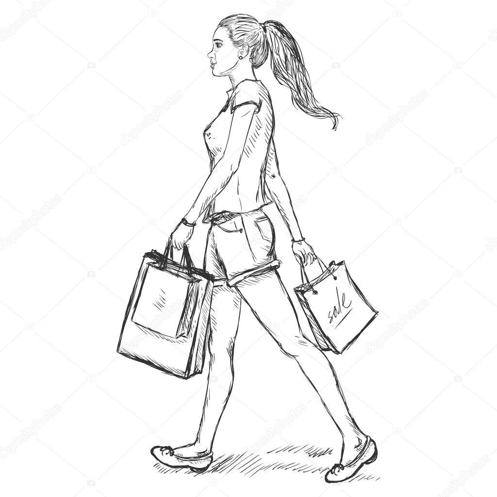 Рисунки человека который идёт