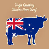 Vector Illustration: Hight Quality Australian Beef. — Stock Vector