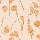 Vektorové bezešvé vzor květin — Stock vektor