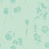 Patrón sin costuras vector de flores — Vector de stock