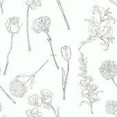 Vektör çiçek seamless modeli — Stok Vektör