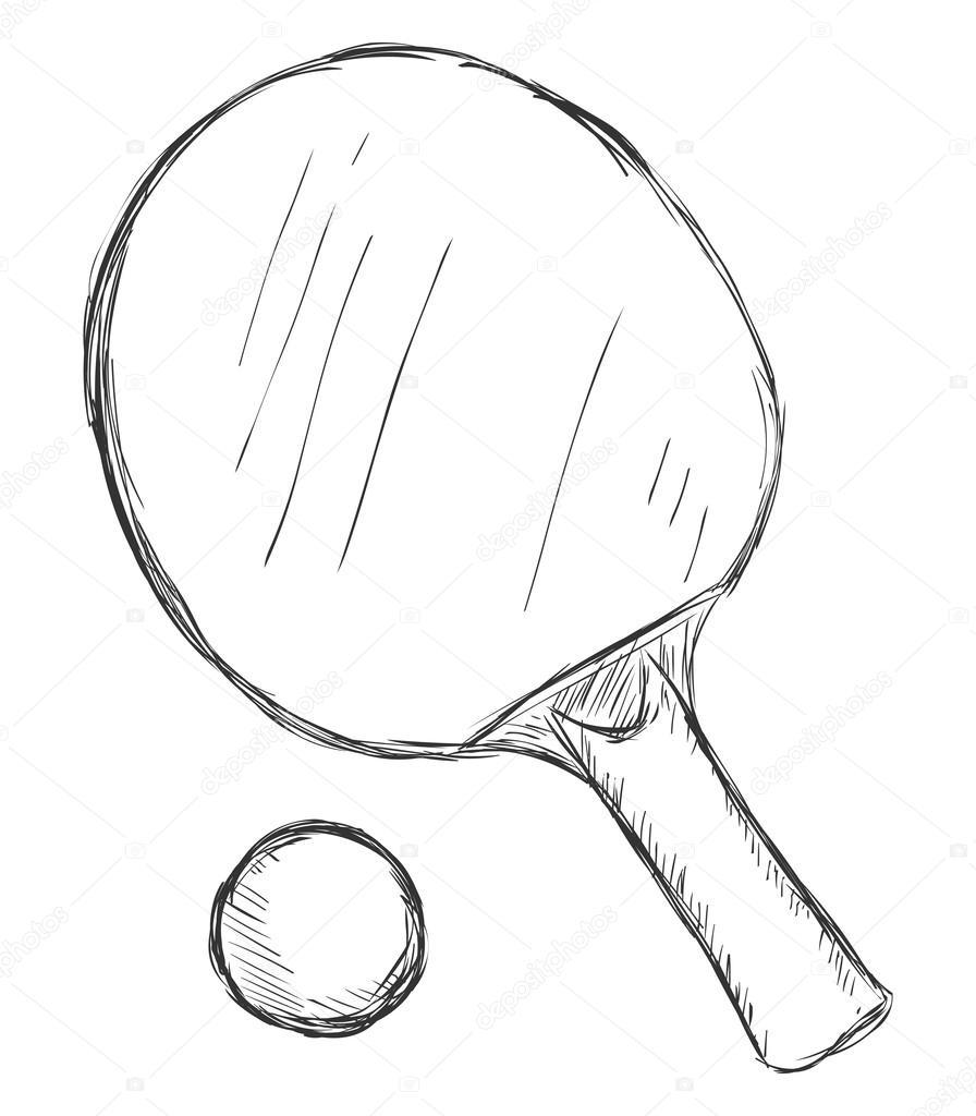 Раскраски теннисные ракетки