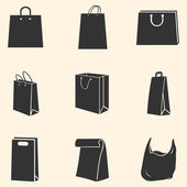 Vector Set of Shopping Bags Icons — Stock Vector