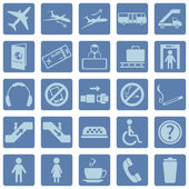 Vector Set of Airport Icons — Stock Vector
