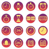 Vector Set of  Time Icons — Stock Vector