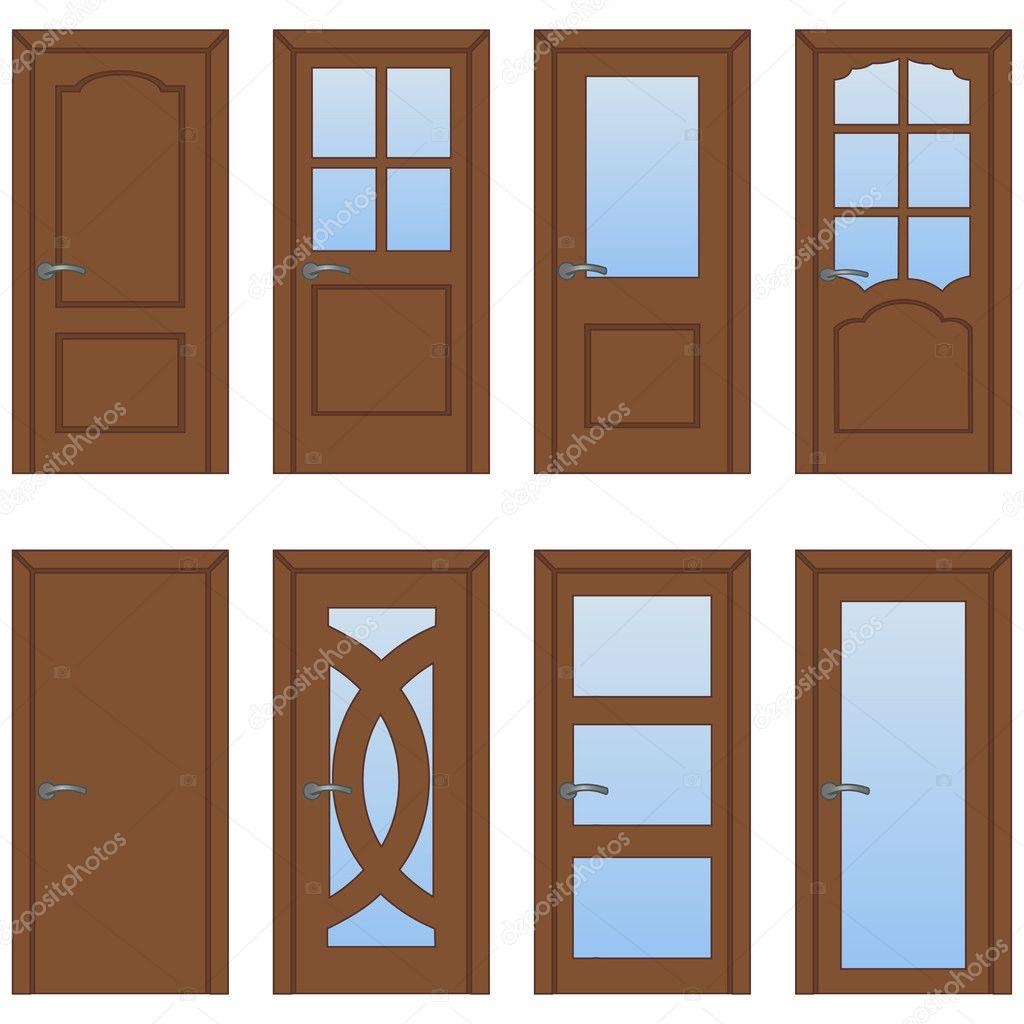 Vector conjunto de puertas de dibujos animados vector de - Dibujos de puertas ...