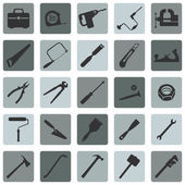 Set of Work Tools Icons — Stock Vector