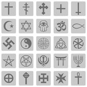 Vector Set of Religious Symbols — Stock Photo