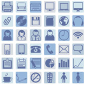 Vector Set of Office Icons — Stock Vector
