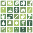 Set of Plants Icons — Stock Vector #47887695
