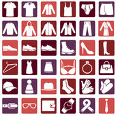 Vector Set of Wear Icons — Stock Vector