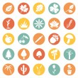 Set of Plants Icons — Stock Vector