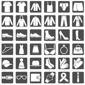 Set of Wear Icons — Stock Vector