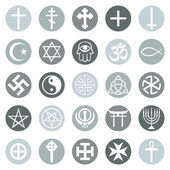 Set of Religious Symbols — Stock Vector