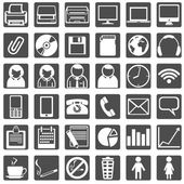 Set of Office Icons — Stock Vector