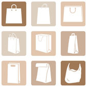 Shopping Bags Icons — Stockvector