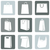 Shopping Bags Icons — Wektor stockowy