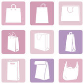 Shopping Bags Icons — Stock vektor
