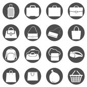 Bags Icons — Stock vektor
