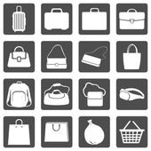 Bags Icons — Stockvector