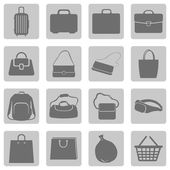 Bags Icons — Stock Vector