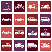 Ground Transportation Icons — Vettoriale Stock