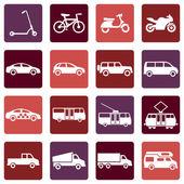 Ground Transportation Icons — Stockvektor