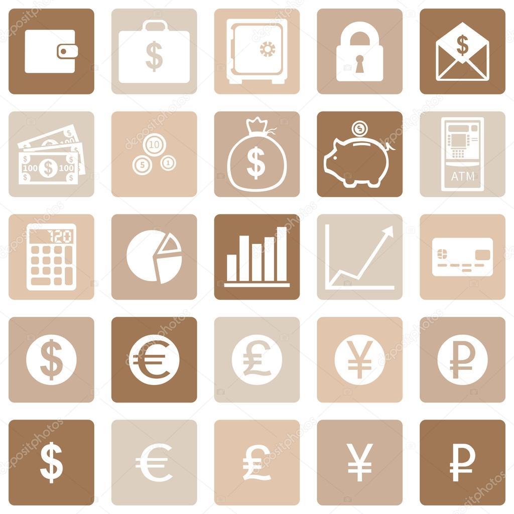 向量组的财务图标 — 矢量图片作者 nikiteev