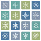 Vector Set of Snowflakes Icons — Stock Vector