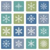 Kar taneleri simgeler vektör kümesi — Stok Vektör