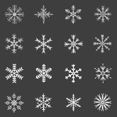 Vector Set of Snowflakes Icons — Stockvector