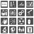 School Subjects Icons — Stock Vector #49252859