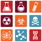 Chemistry Icons — Stock Vector