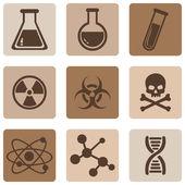 Chemie ikony — Stock vektor