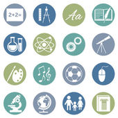 School Subjects Icons — Stock Vector