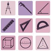 Geometry Icons — Stock Vector